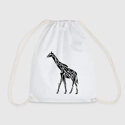 giraffe wildlife africa animal animals - Drawstring Bag