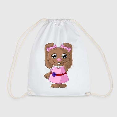 Cute cartoon bunny - Drawstring Bag