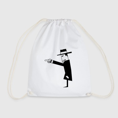 Spy with hat - Drawstring Bag