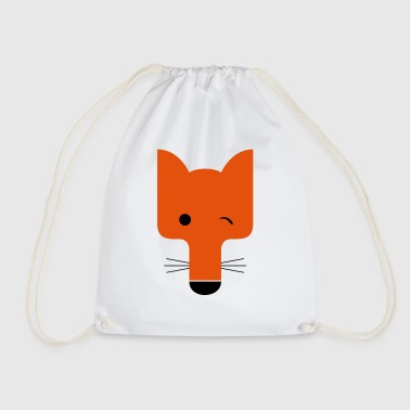 Fox blinking - Drawstring Bag