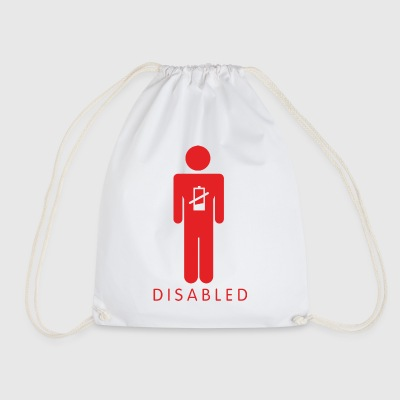 Disabled Battery Male - Drawstring Bag