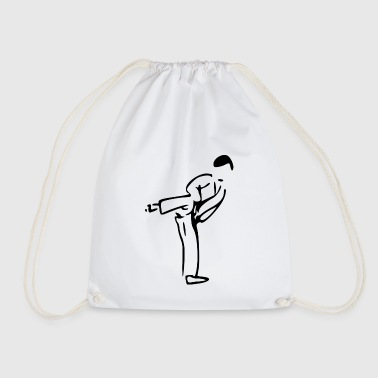 karate martial arts thai boxing ninja kickboxing38 - Drawstring Bag