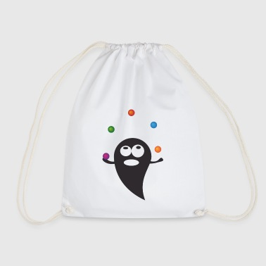 the juggling spirit - Drawstring Bag