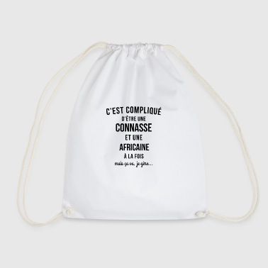 Connasse and African - Drawstring Bag