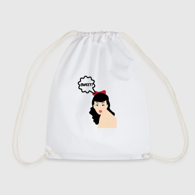 Pin-Up Girl / Rockabilly / 50s: Sweet! - Drawstring Bag
