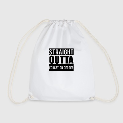 Lærer / School: Straight Outta Utdanning Degree - Gymbag