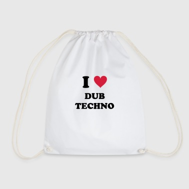 I LOVE DUB TECHNO - Drawstring Bag