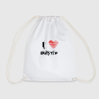 I love dubstep techno minimal rave - Drawstring Bag