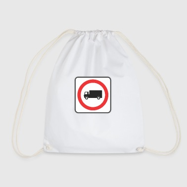 Road sign truck in circle - Drawstring Bag
