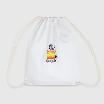 Baker by day super mom by night - Drawstring Bag
