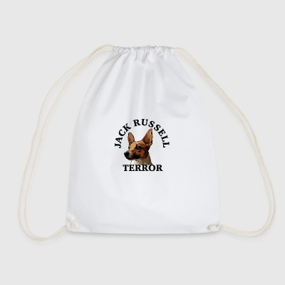 Jack Russell terror4 black - Drawstring Bag