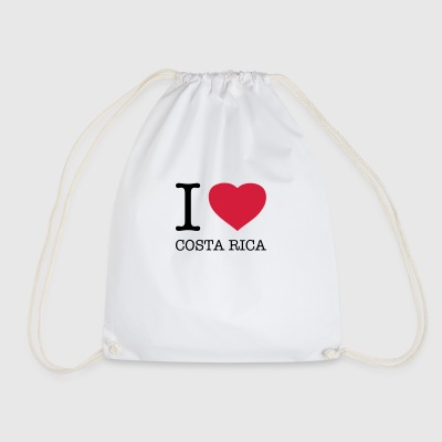 I love Costa Rica - Drawstring Bag