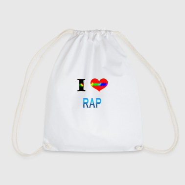 I Love RAP - Drawstring Bag