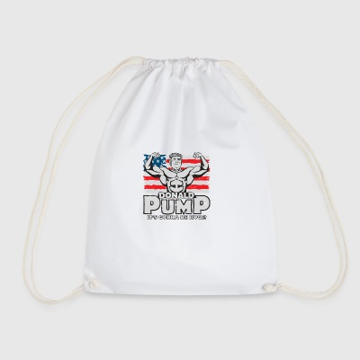 Donald Pump Flag Color - Drawstring Bag