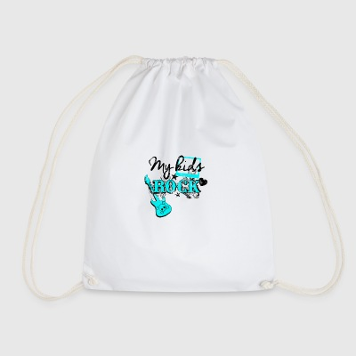 My kids rock - Drawstring Bag
