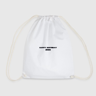 happy birthday son - Drawstring Bag