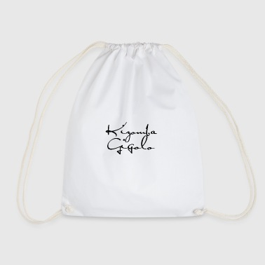 Kizomba Gigolo black - Kizomba Dance Shirt - Drawstring Bag