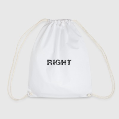 Right lettering - Drawstring Bag