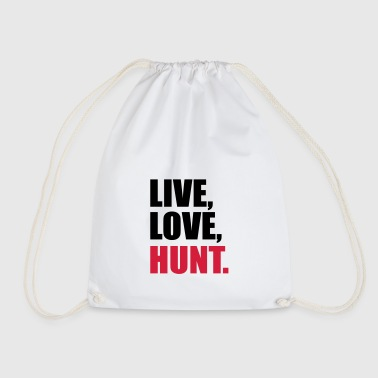 to hunt - Drawstring Bag