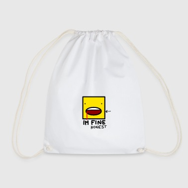 I'm fine....honest - Drawstring Bag