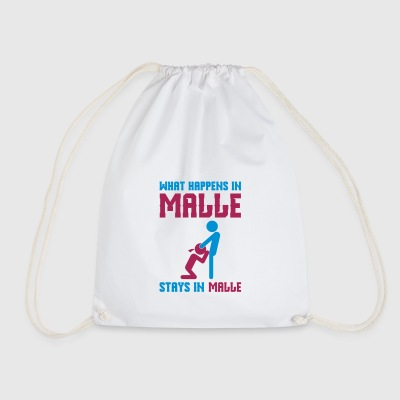 Malle what happens there - Drawstring Bag