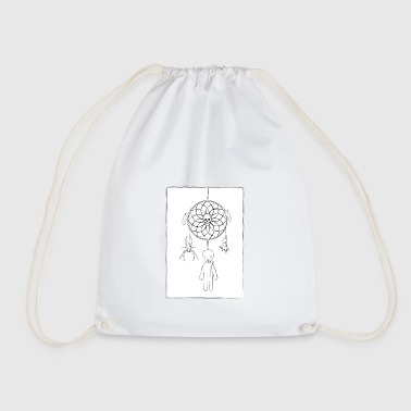 Scary dreamcatcher - Drawstring Bag