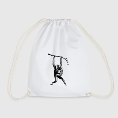 Monkey with offspring - Drawstring Bag