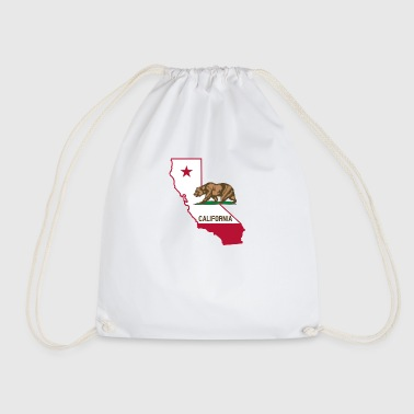 California with bear - Drawstring Bag