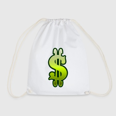 Dollar sign dollar money - Drawstring Bag