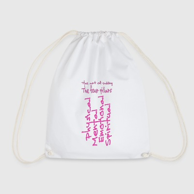 The four pillars - Drawstring Bag