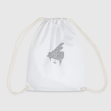 piano notes - Drawstring Bag