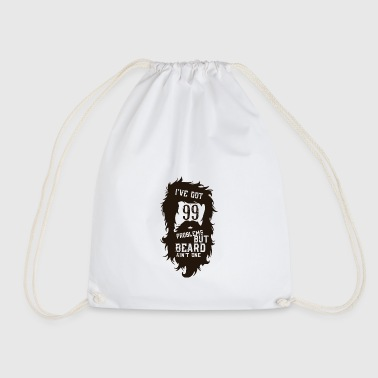 But a beard beard - Drawstring Bag