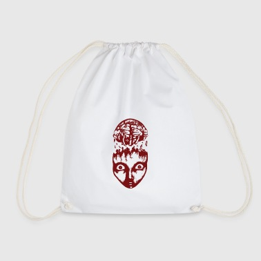 Red brain wrench - Drawstring Bag