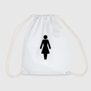 Woman symbol - Drawstring Bag