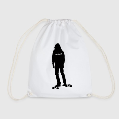 Passion Longboard. (Motif color changeable!) - Drawstring Bag