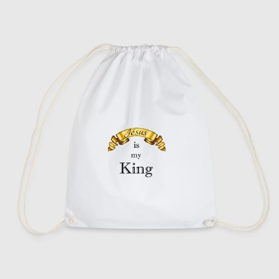 Jesus is my King - Drawstring Bag