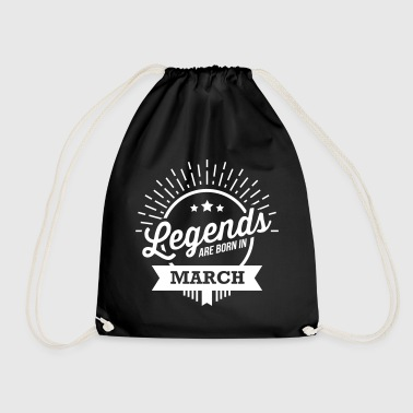 legends are born march March birthday - Drawstring Bag