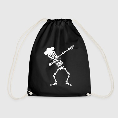 Dab dabbing skeleton BBQ cook / chef - Drawstring Bag