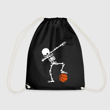 Dab dabbing skeleton football basketball - Mochila saco