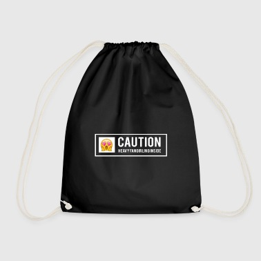 Fandom warning fangirling - Drawstring Bag