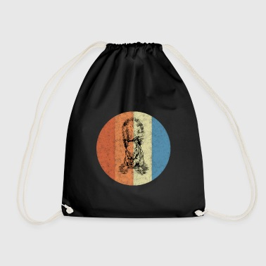 Squirrel on colorful background - Drawstring Bag