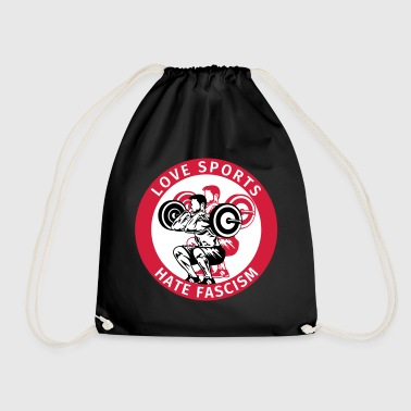 Antifa Logo Humor Love Sports Hate Fascism - Sacca sportiva