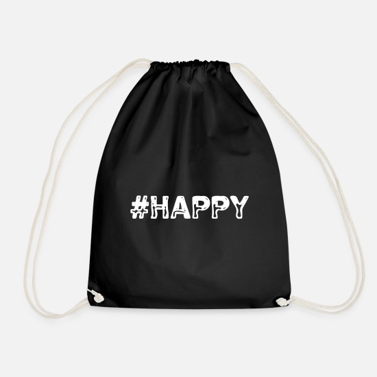 Good Mood Bags & Backpacks - Happy - Drawstring Bag black