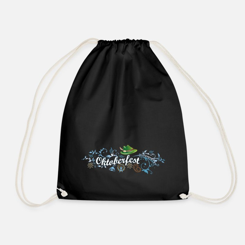 Oktoberfest Bags & Backpacks - German Oktoberfest decoration  - Drawstring Bag black