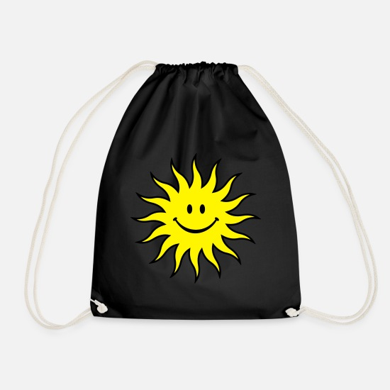 Smile Bags & Backpacks - Sun - Drawstring Bag black