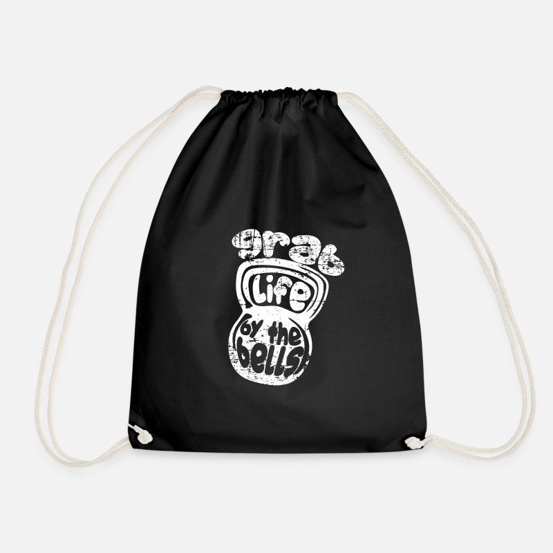 Studio Bags & Backpacks - Sport fitness gift idea - Drawstring Bag black