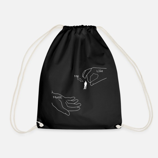 Music Bags & Backpacks - Music! - Drawstring Bag black