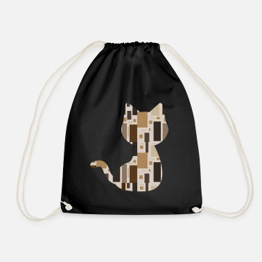 Pattern Cat pattern pattern - Drawstring Bag