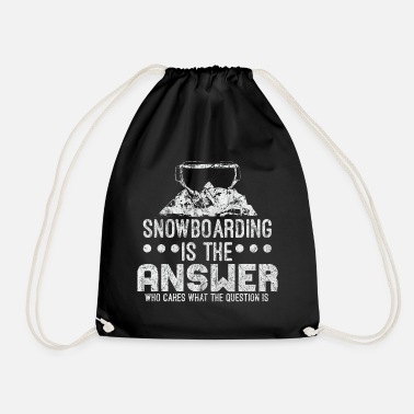 Snowman Snowboard winter - Drawstring Bag