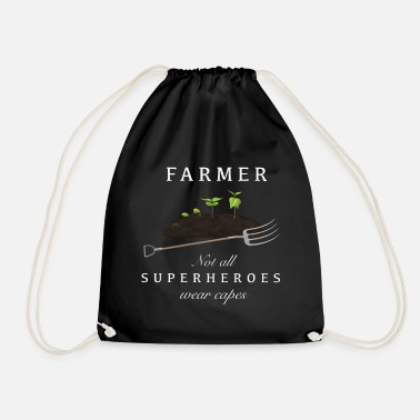 Proud Farmer Proud farmer farmer superhero - Drawstring Bag
